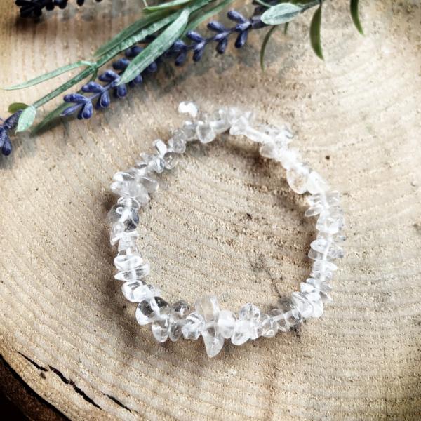 Armband Bergkristallen splitkralen