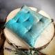 Klankschaalkussen turquoise 17x17 cm (3)