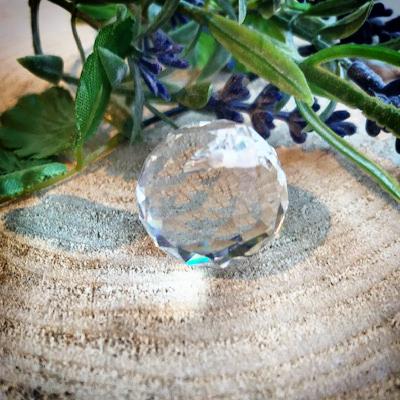 Kristallen bol raamhanger 2,5 cm
