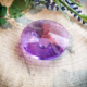 Kristallen schijf raamhanger paars 5 cm