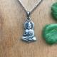 Zilveren boeddha