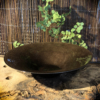 Fonteinschaal bruin glas